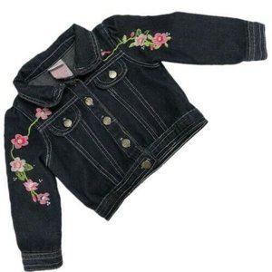 Nannette Kids flower embellished denim jean jacket